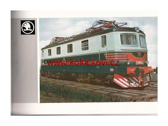 Elektric Locomotives Škoda – sale brochure