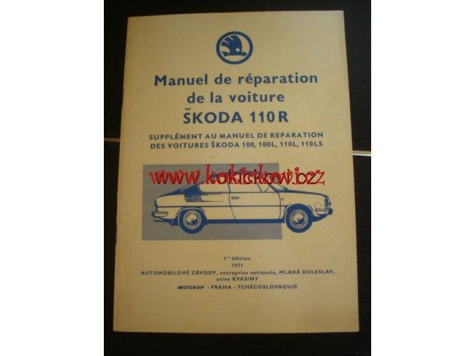 ŠKODA 110 R DÍLENSKÁ PŘÍRUČKA 1971 - FRANCOUZSKY
