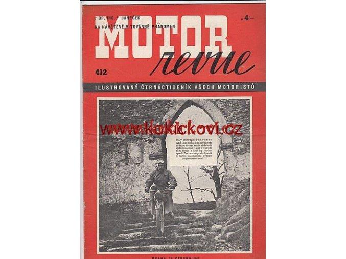 MOTOR REVUE - 1941 - ROČNÍK XX., ČÍSLO 412
