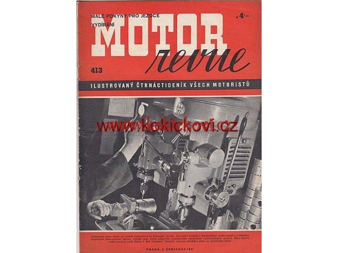 MOTOR REVUE - 1941 - ROČNÍK XX., ČÍSLO 413