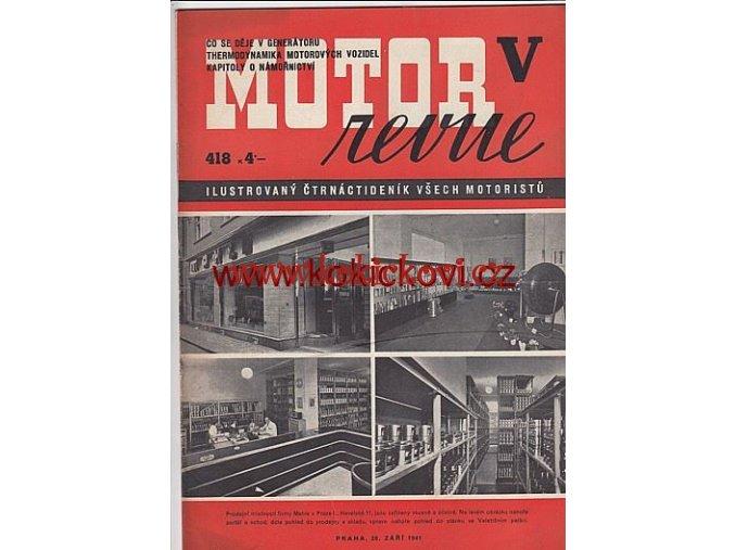 MOTOR REVUE - 1941 - ROČNÍK XX., ČÍSLO 418