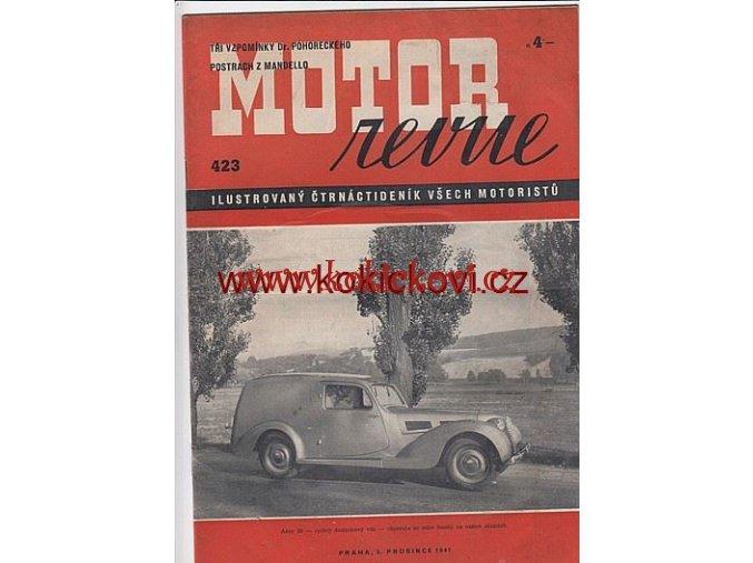 MOTOR REVUE - 1941 - ROČNÍK XX., ČÍSLO 423