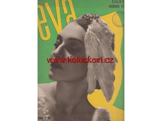 ČASOPIS EVA ČÍSLO 2 LISTOPAD 1933 FOTO MARLEN