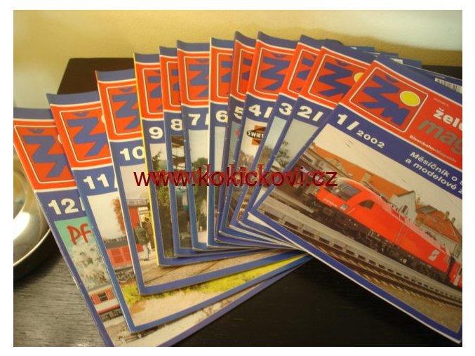 ŽELEZNIČNÍ MAGAZÍN 2002 ŽELEZNIČNÍ MODELÁŘSTVÍ KOMPLETNÍ ROČNÍK