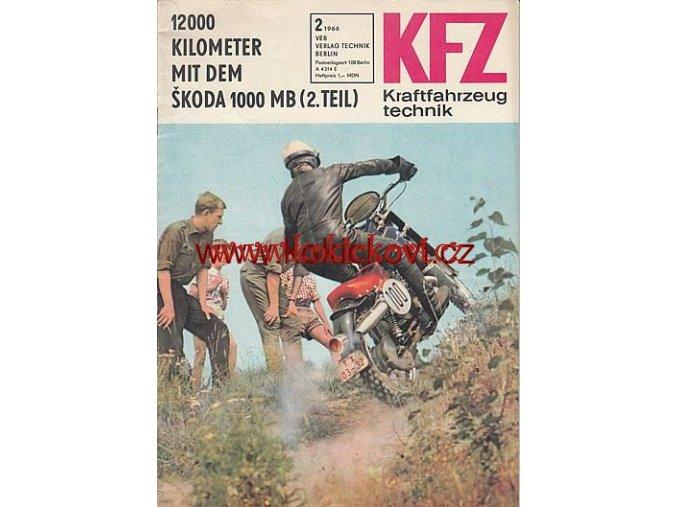 NĚMECKÝ ČASOPIS KFZ 1966 > 2 UVNITŘ ŠKODA 1000MB MZ