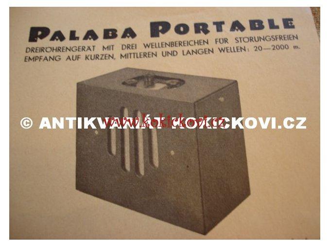 PALABA RADIO PORTABLE NĚMECKÝ PROSPEKT
