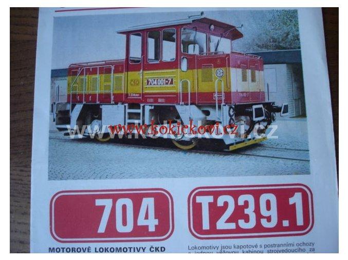 ČKD MOTOROVÁ LOKOMOTIVA 704 A T239.1 T239.0 PROSPEKT A4 4 STRANY