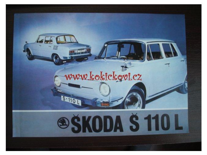 ŠKODA 110 L ORIGINÁLNÍ PROSPEKT 1A4