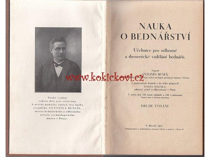 BEDNÁŘ ŘEMESLO PŘÍRUČKA 1927 - ZAPOMENUTÉ ŘEMESLO