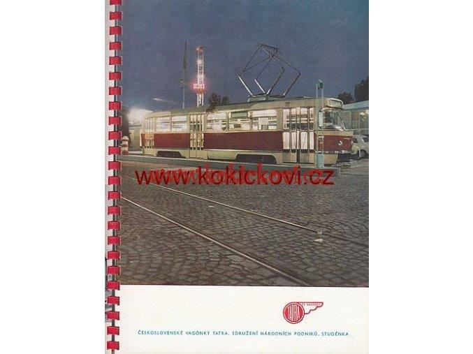 REKLAMNÍ KATALOG ČS. VAGONEK TATRA VOZY ČSD 1962