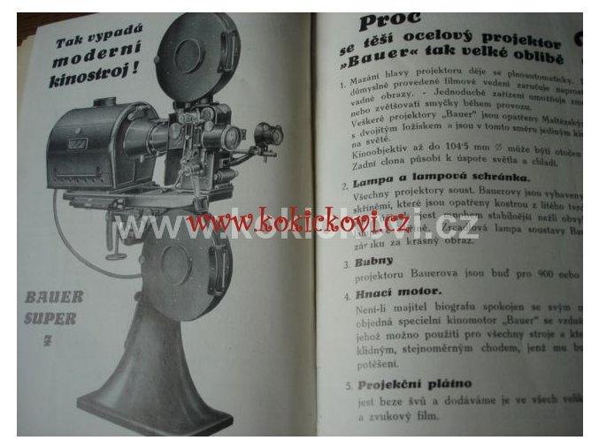 PŘÍRUČKA PRO ZKOUŠKU KINOOPERATÉRSKOU 1931 BAUER SUPER