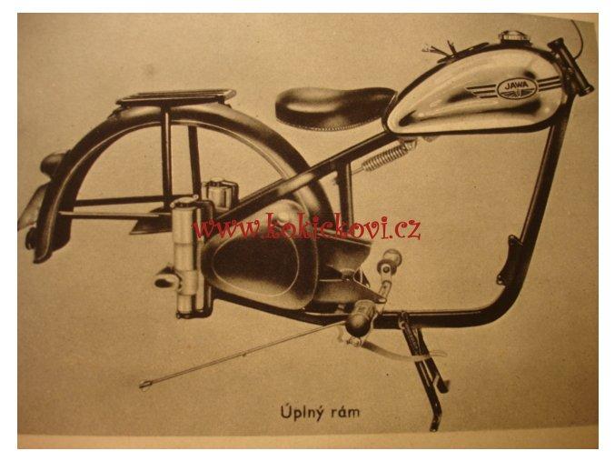 Jawa PÉRÁK popis a jízdní návod z roku 1949 - originál