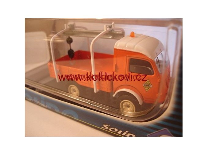 RENAULT 1960 4X4 DEPANNEUSE SOLIDO 1/43 ORANGE