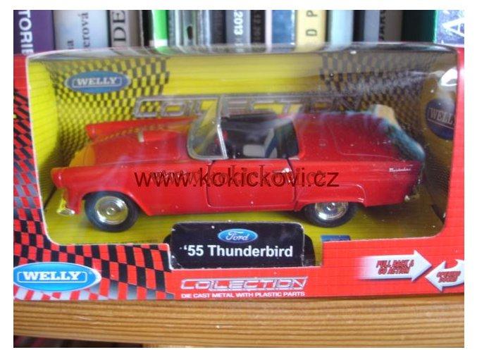 Ford ´55 Thunderbird convertible červený Welly collection