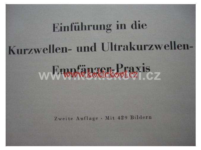 Einführung in die Kurzwellen und Ultrakurzwellen KRÁTKÉ VLNY