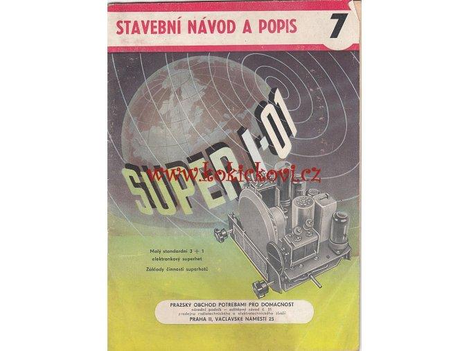 STAVEBNÍ NÁVOD SUPERHET SUPER I - 01