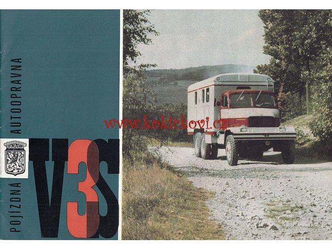 PRAGA V3S POJÍZNÁ AUTOOPRAVNA BROŽURA MOTOKOV 1966