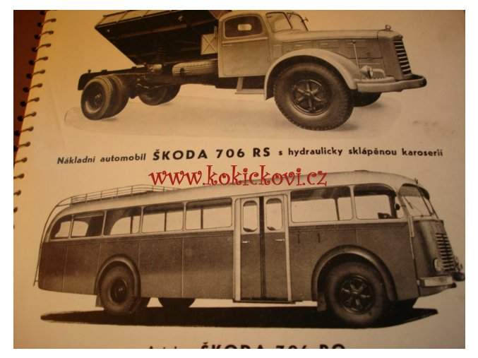 AUTOBUS ŠKODA 706 R0 R RS DÍLENSKÁ PŘÍRUČKA ORIG. 1956