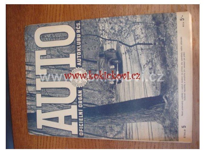 AUTO - ČASOPIS ČS. MOTORISTŮ ČÍSLO Č.5 KVĚTEN 1947