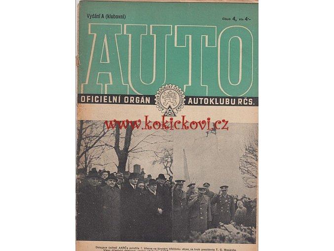 AUTO - ČASOPIS ČS. MOTORISTŮ ČÍSLO A4 DUBEN 1946