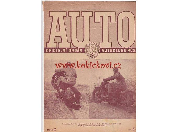 AUTO - ČASOPIS ČS. MOTORISTŮ ČÍSLO ÚNOR 1947