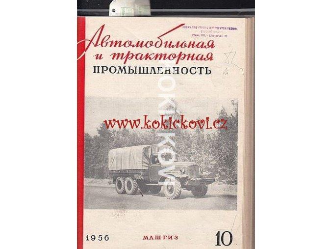 AUTOMOBILOVÝ PRŮMYSL - SSSR - ČASOPIS - 1956