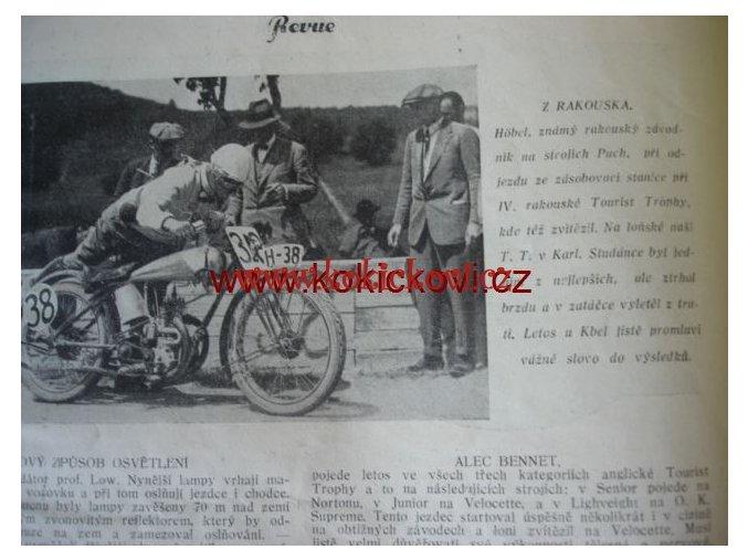 ČASOPIS MOTOR REVUE Č.11/1927 KOMPLETNÍ ČÍSLO STAV VIZ POPIS