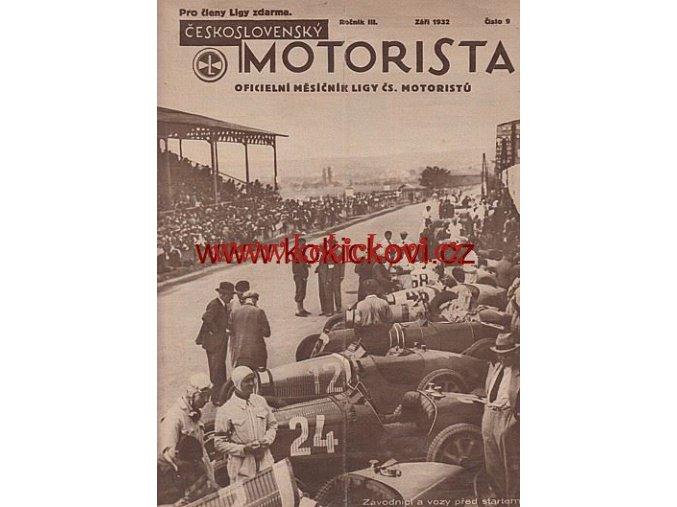ČASOPIS ČESKOSLOVENSKÝ MOTORISTA KOMPLET 3. ROČNÍK 1932