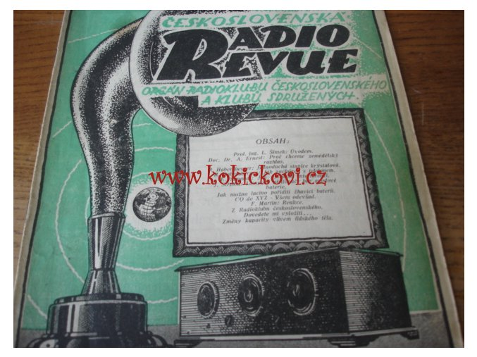 Československá radiorevue ROČNÍK 1925 - Č.1,3,4,8,9,