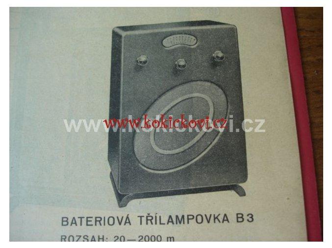 BATERIOVÁ TŘÍLAMPOVKA PALABA B3 ORIG. PROSPEKT 1934 PÁLA SLANÝ