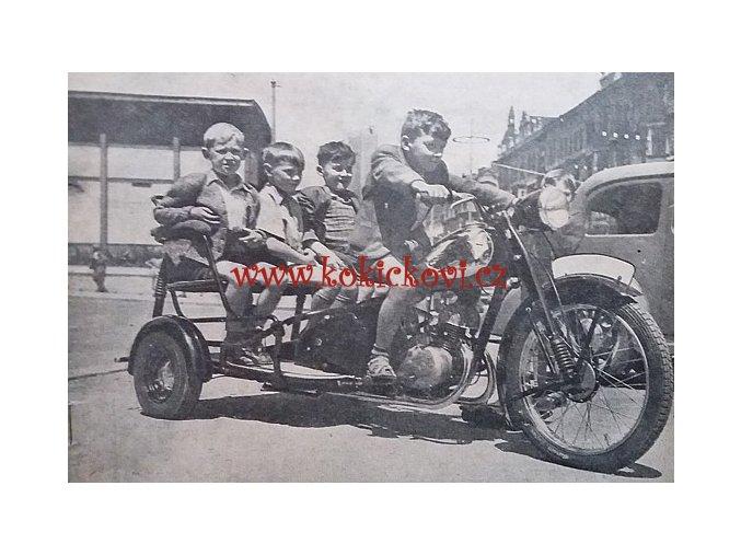 3. ROČ. ČASOPISU MOTOCYKL 1951 NAPŘ. JAWA RIKŠA