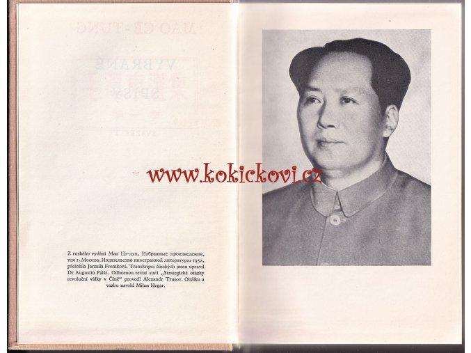 """Mao Ce-Tung """"Vybrané spisy"""" No. 1"""
