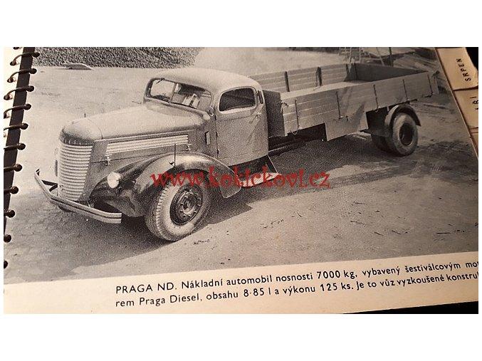 ČESKOMORAVSKÁ KOLBEN DANĚK REKLAMNÍ KALENDÁŘ 1940 - PRAGA LADY - TROLEJBUS - MOTOROVÝ VŮZ M 260 - ČKD
