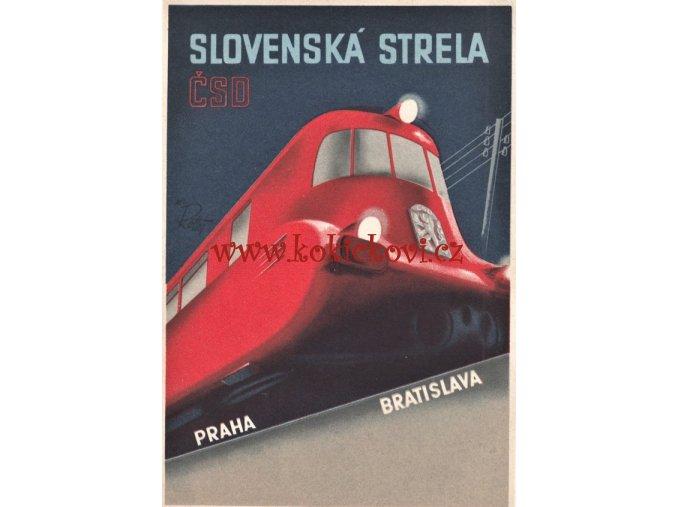 SLOVENSKÁ STRELA TATRA ČSD 1936 IKONA REKL. DESIGNU 1. REPUBLIKY