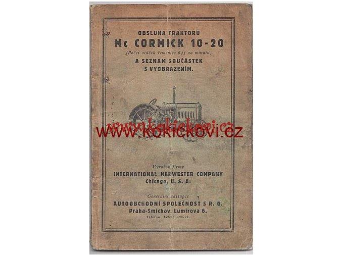 TRAKTOR MC CORMICK 10-20 NÁVOD + SEZNAM DÍLŮ 1930?