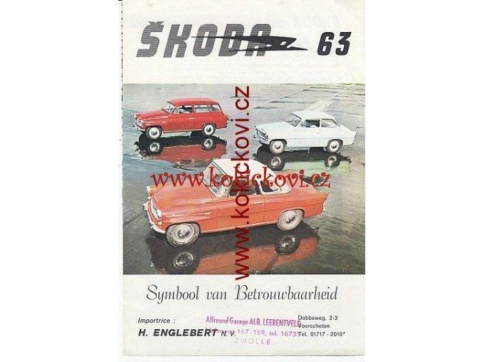 ŠKODA OCTAVIA A FELICIA 1963 BAREVNÝ PROSPEKT 8 STRAN HOLANDSKY