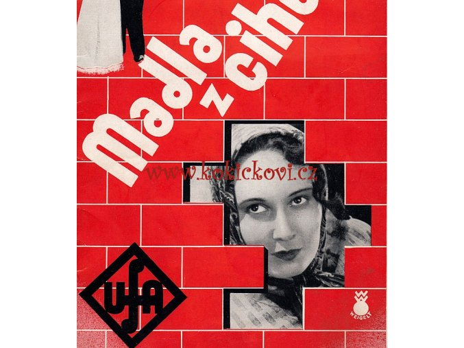 MADLA Z CIHELNY PROGRAM 1933 - HUGO HAAS LÍDA BAAROVÁ