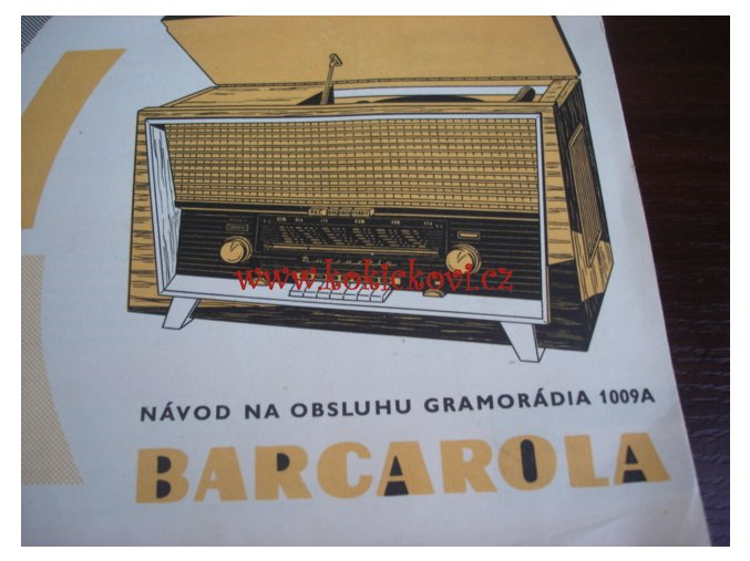 TESLA 1009 BARCAROLA REKLAMNÍ BROŽURA 6 STRAN A PARAGON - 196?