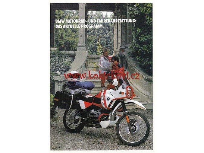 BMW MOTORRAD - PROSPEKT MOTOCYKL - 4 STRANY FORMÁT A4