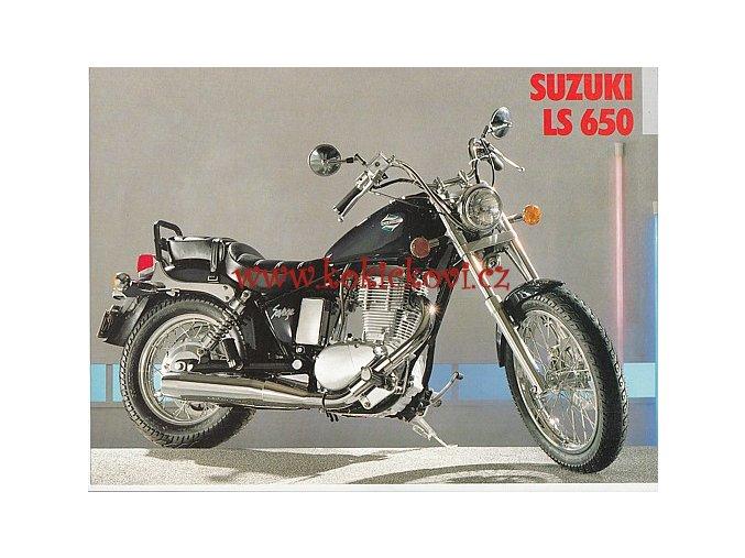 SUZUKI LS 650 - REKLAMNÍ PROSPEKT - TEXT NĚMECKY - 1 LIST A4