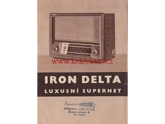 RADIO LETÁK IRON DELTA - REKLAMNÍ LETÁK A5