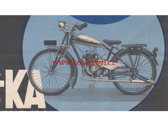 REKLAMNÍ PROSPEKT A4 ORIGINÁL 1939 - motorové kolo PREMIER-SACHS 98- SAWORKS A.G. CHEB EGER ČSR - Ambros Swětlik - Henrich Kastrup