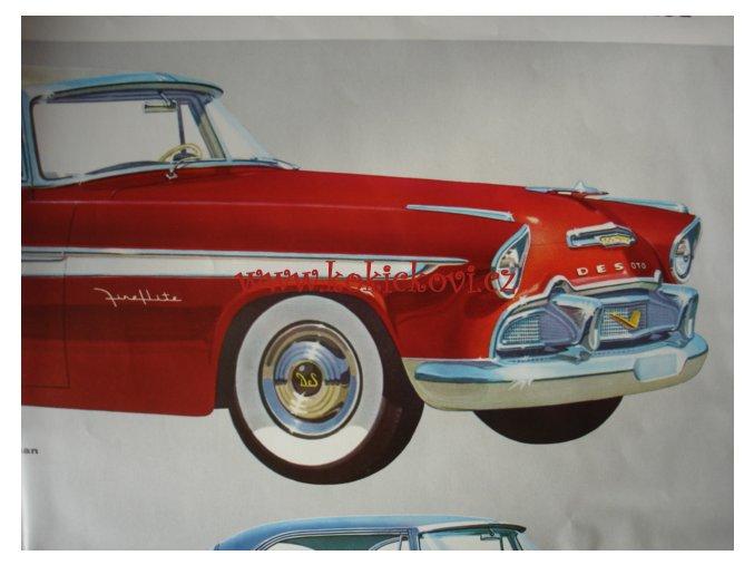 DE SOTO 1956 ORIG. REKLAMNÍ PROSPEKT - po rozložení 50*70 cm plakát