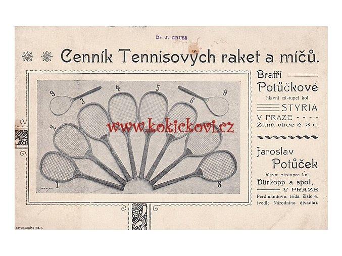 CENNÍK TENISOVÝCH RAKET A MÍČŮ - CENNÍK KOPACÍCH MÍČŮ, BOT HECKEYE A BRUSLÍ 190?/191?