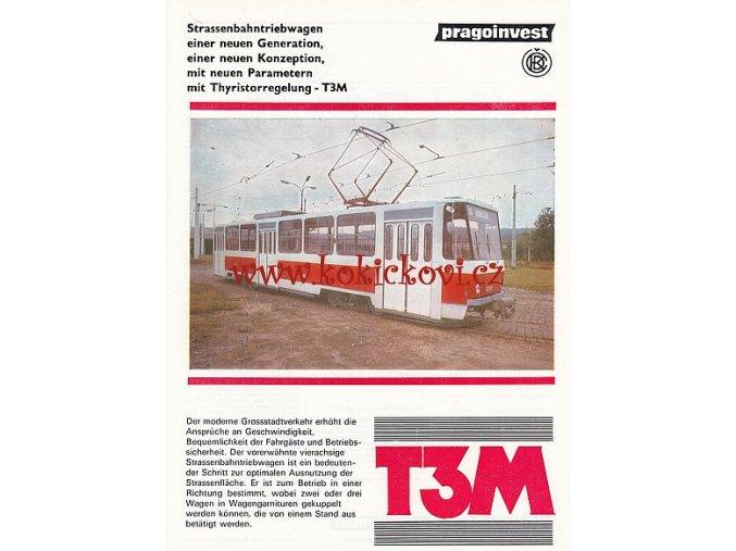 ČKD Tatra - T3M - tramvaj - prospekt - A4  - 2 strany . PRAGOINVEST