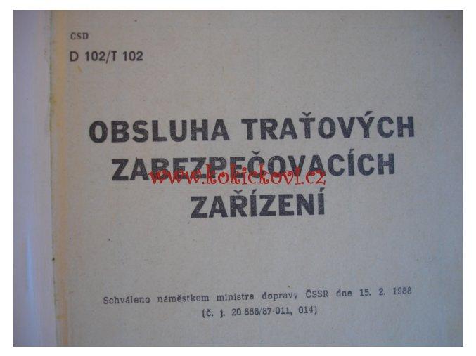 Obsluha staničních zabezpečovacích zařízení - ČSD 1988 NADAS
