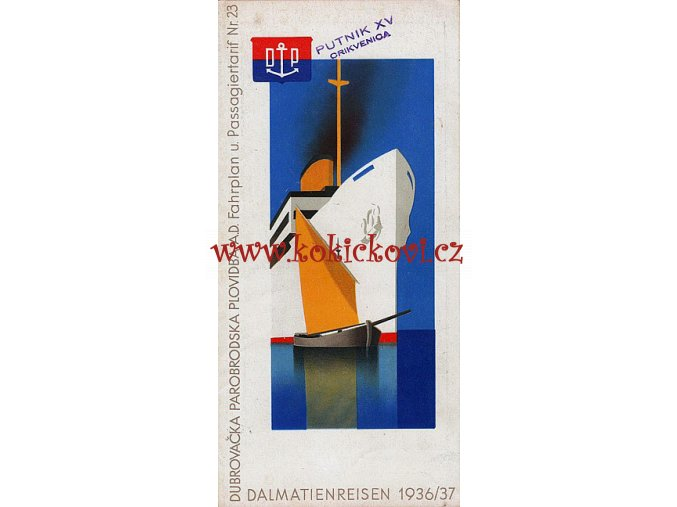 Hans Wagula: Dalmatian Cruises Brochure, 1936 - GERMAN EDITION - ART DECO
