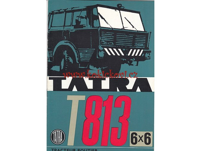 Tatra 813 6x6 tahač 12s. FOTOPROSPEKT LUXUS - FRANCOUZSKY