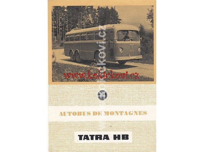 HORSKÝ AUTOBUS TATRA T 500 HB - REKLAMNÍ PROSPEKT 1954 - MOTOKOV