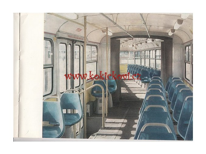 Tatra K2 dvoučlánková tramvaj - REKLAMNÍ PROSPEKT - 1970 - A4 - 12 STRAN - TEXT NĚMECKY - ILUSTRACE FRANTIŠEK KARDAUS